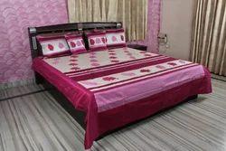 Block Print Silk Double Bed Sheet
