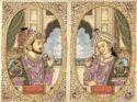 Silk Ancient Art Shahjahan Mumtaz Miniature Painting