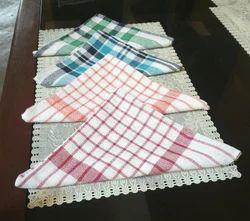 Check Cotton Napkins Multi Color, Size: 20x20 inch