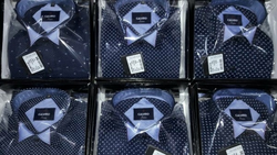 Calvino Blue Check Shirt
