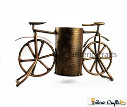 Brown Iron Cycle Pen Stand, for Office