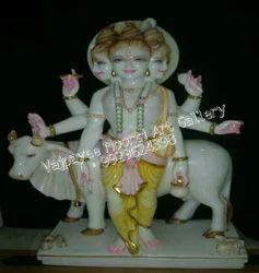 Marble Dattatreya Bhagwan Statue