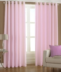Alagh Fashions Pink Curtains