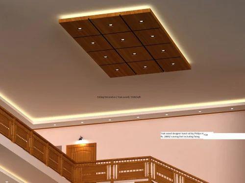 Designer Teak Wood Ceiling