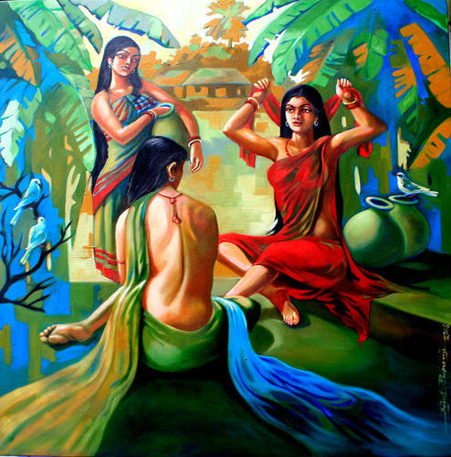 indian naked paintings of female
