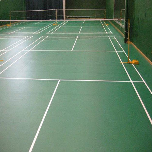 Green Polyvinyl Chloride Pvc Indoor Sports Flooring Rs
