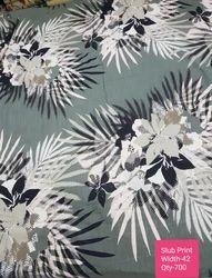 Slub Printed Fabric