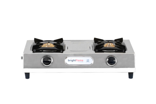 2 Burner Steel Gas Stove, for Home