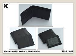 Leather Khisa Wallet Black Color