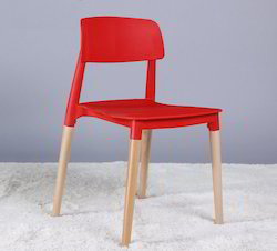 Cafe Chair With Wooden Legs