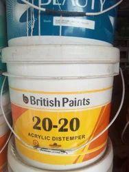 British Paints Acrylic Distemper Paint