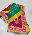 Gota Patti work saree