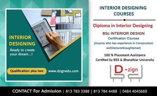 Diploma In Interior Design At Rs 80000 Year इ ट र यर ड ज इन ग क र स Education D Zign Group Of Institutions Ernakulam Id 20128213462