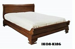 TEAK YELLOW Standard Wooden Bed,, Size/Dimension: King Size