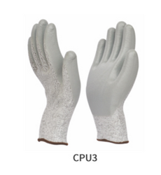 Cut Resistant Light Grey Coated Gloves