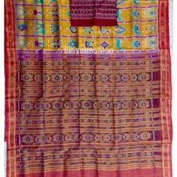 Nabakothi Odisha Ikat Handwoven Silk Saree