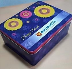 rectangle cookies tin container