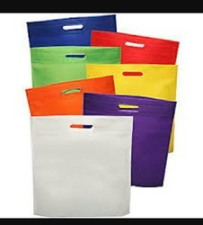 Premium (First Quality) White And Iverory Non Woven Shopping Carry Bag, Size: All Size