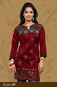 Stylish Crepe Plus Size Kurti