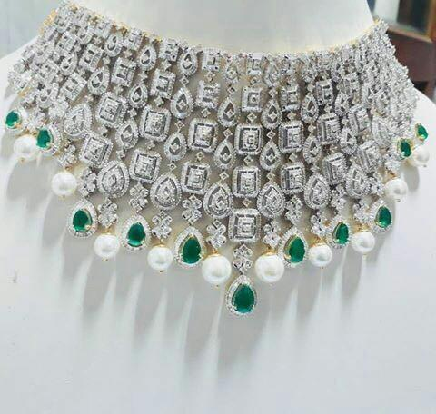 Nakkash Jewellers Necklaces Heavy Gold Diamond Necklace Rs 750000