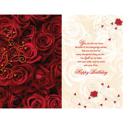 On Your Birthday Sweetheart Personalized Card