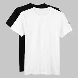 White Large Mens Plain looser T-Shirt