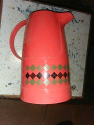 Red Plastic Tea Thermos