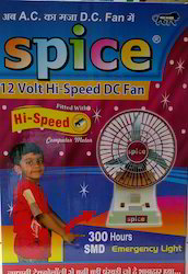 Spice 12VDC Rechargeable Fan