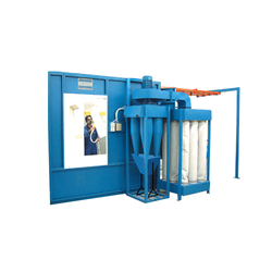 Steel Powder Coating Booth, Cross-Flow Type, Automation Grade: Automatic