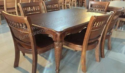 Natural Teak Dining Table Set Rs 65000 Set Mbk Wood Carving Works