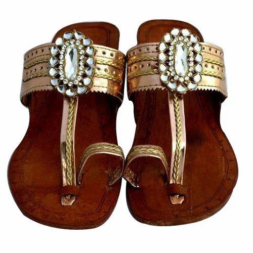 Ladies kholhapuri sandals ethnic slipper casual jutti flat casual mojari kolhapuri sandals