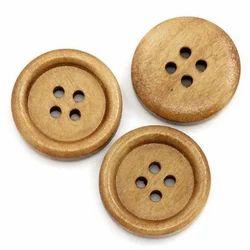 Brown Round Designer Wooden Buttons