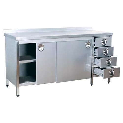 Silver S M Engineering Works Stainless Steel Kitchen Cabinet Id 2516148788