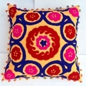 Wool Embroidered Cushion Cover