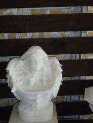 Girl Face Statue