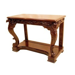 Light Brown Antique Wooden Console