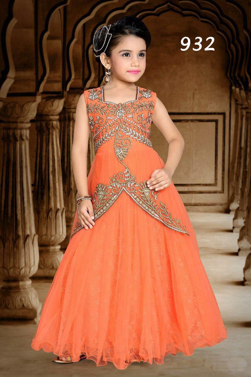 Girls Fashion Pink Gowns 7f2658feb
