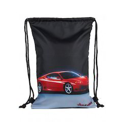 Car Printed Drawstring Bags