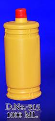 Bhagwati Plast Yellow 1000 mL HDPE Bottle