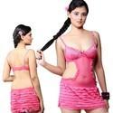 Designer Mini Nighty in Pink Net 513