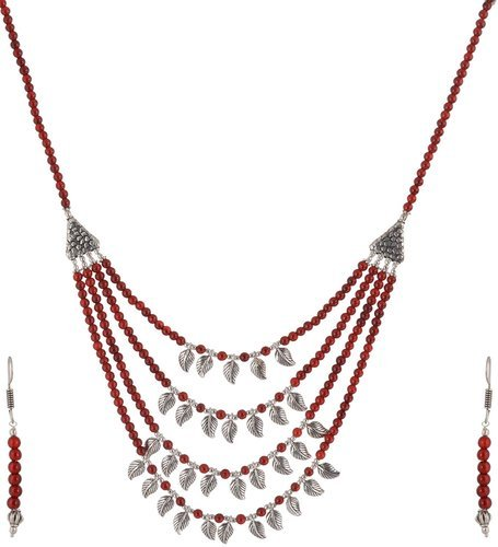 Trendy Beaded Necklace Set