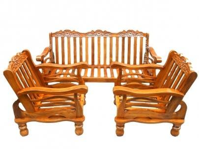 Teak Wooden Sofa Set With Cushion At Rs 28000 Set S Nanganallur