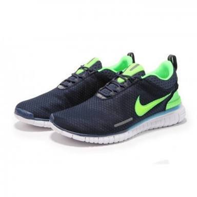 c018279c9a64 Men Nike Free OG Breathe Navy Blue Green Running Sports Shoes