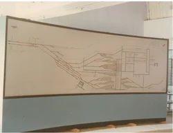 Scada System Mosaic Mimic Panel for Railway Yard
