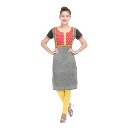 Red Black Check Kurti