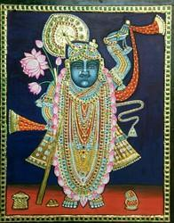 Srinath Ji Tanjore Painting Without Frame