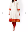 White & Red Party Wear Prakhya Women White Red Anarkali Kurta