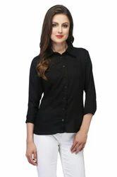 Women Black Shirts, Size: S, M, L & XS