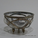 Glass Metal With Clear Bowl