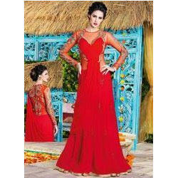 Georgette Party Wear Gown at Rs 2850 /piece | Andheri West ...